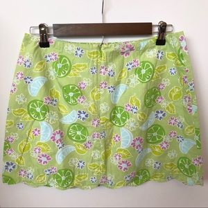 Lilly Pulitzer Skirts - Lilly Pulitzer Floral Scalloped Hem Skirt • Size 8